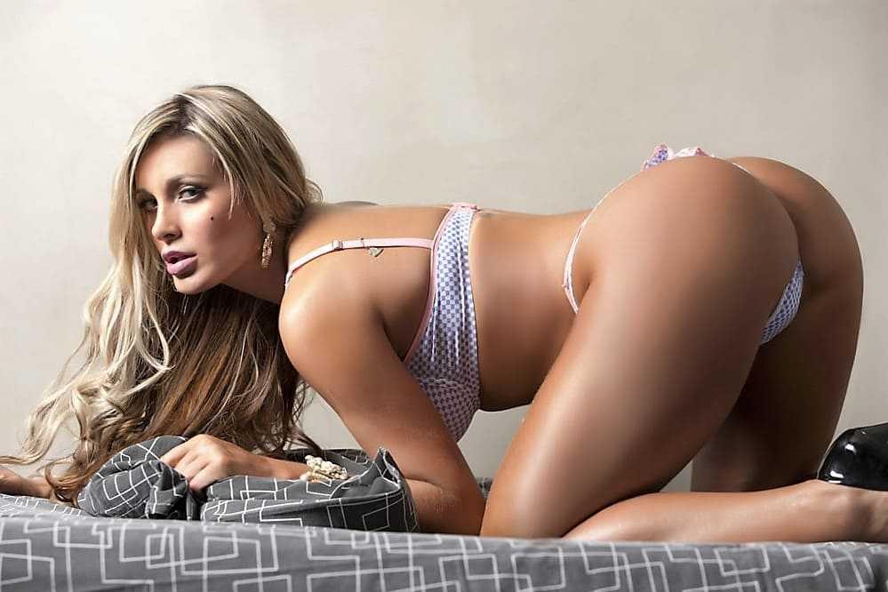 Sexy woman in underwear. Big ass