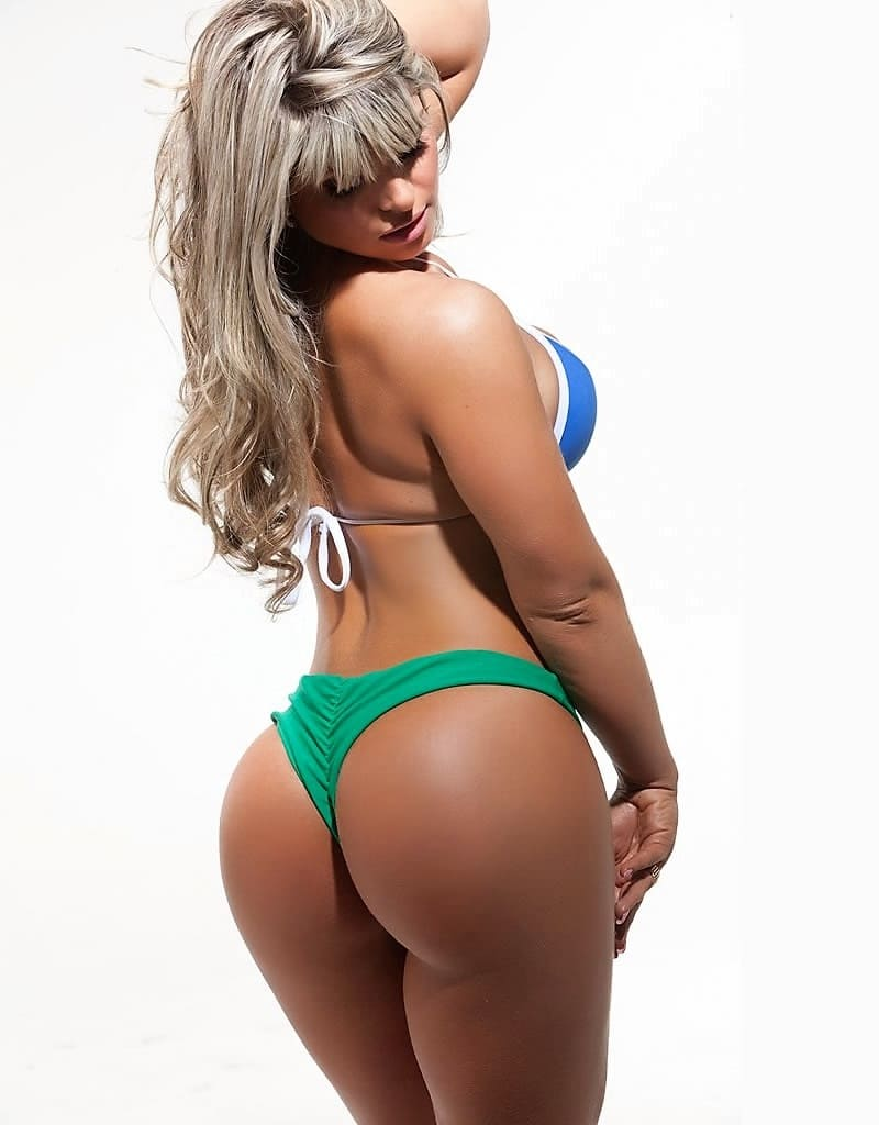 Sexy girl. Beauty with a big ass in a bikini