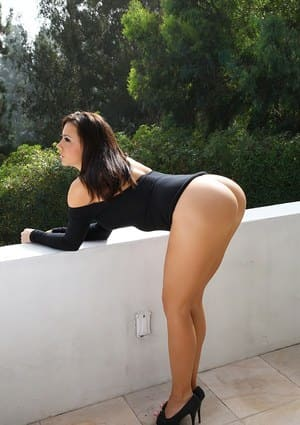 Sexy girl with a big ass.