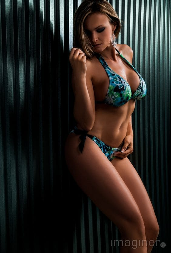 Beautiful girl with a sexy bikini body