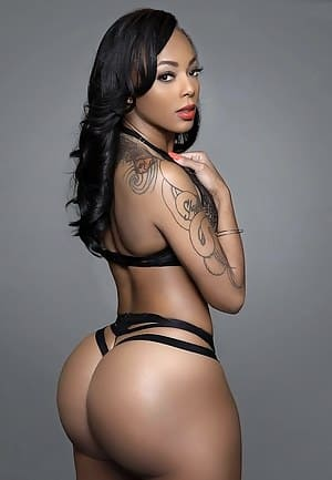 Sexy black girl with a hot ass