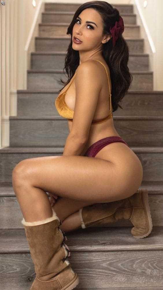 Beautiful girl with sexy slim body photo
