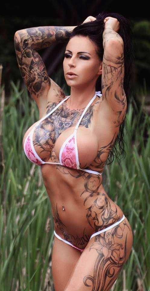 Beautiful woman in a bikini