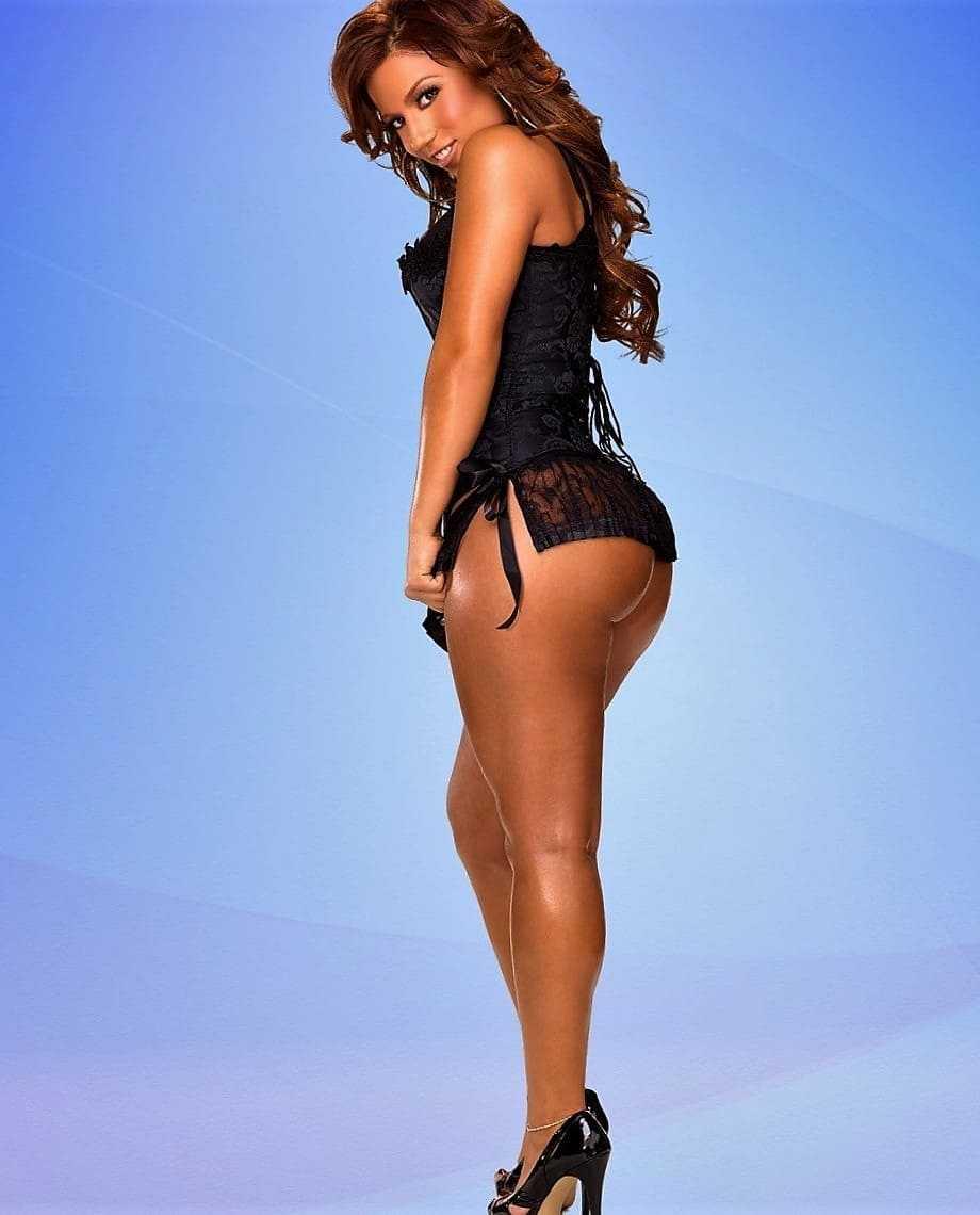 Beautiful and slender girl mulatto photo