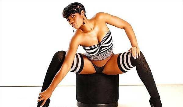 Black woman with a beautiful figure photo.