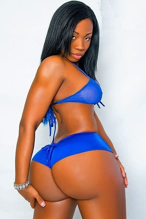 Sexy black girl with a big ass