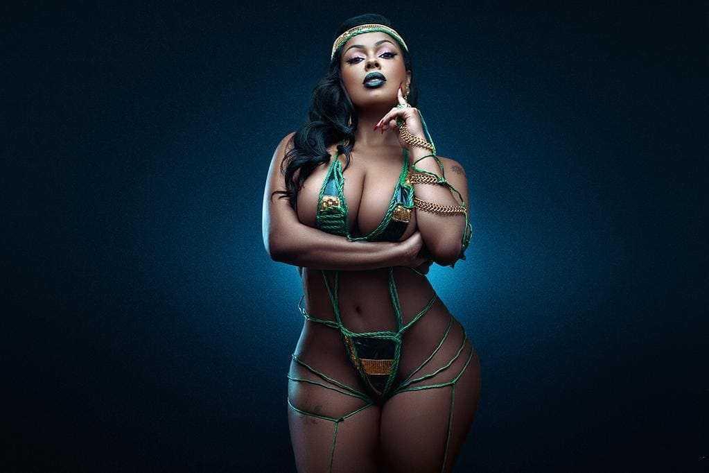 A beautiful figure of a seductive and hot black girl