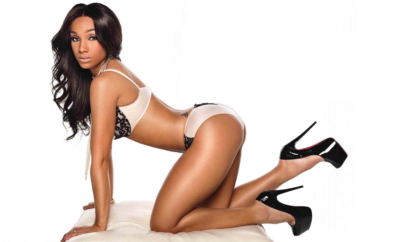 Beautiful black girl in a bikini with a sexy body