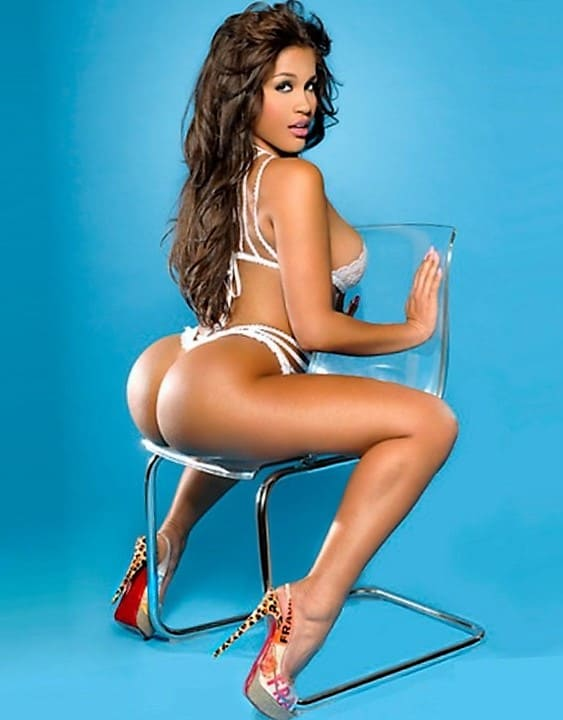 Very beautiful black girl with a sexy ass in a bikini photo