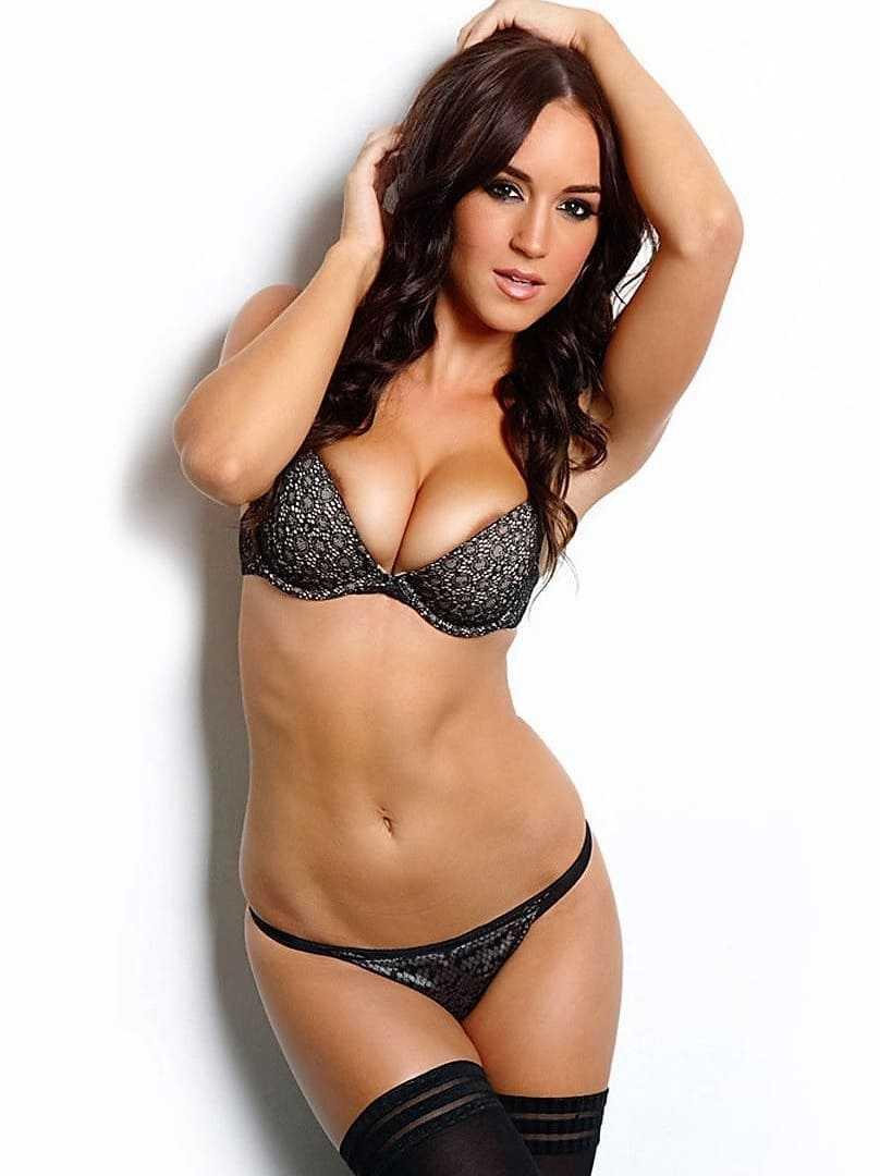 Beautiful girl model in a bikini.