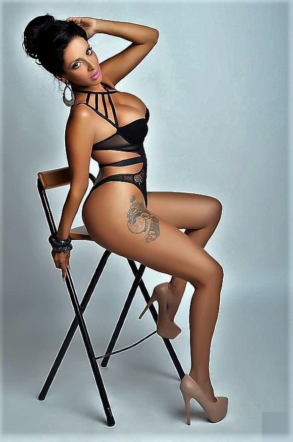 Girl Beauty with a sexy figure in lingerie