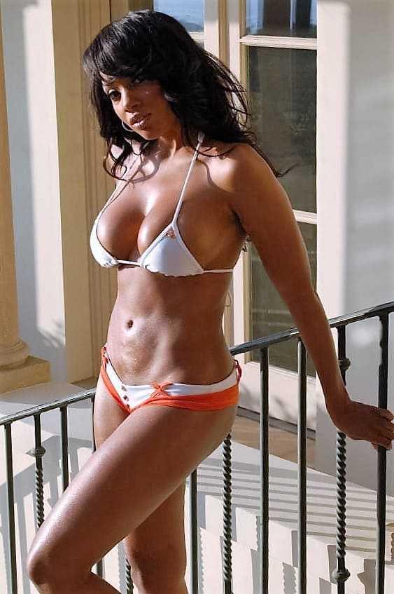 Hot Black woman in a bikini photo