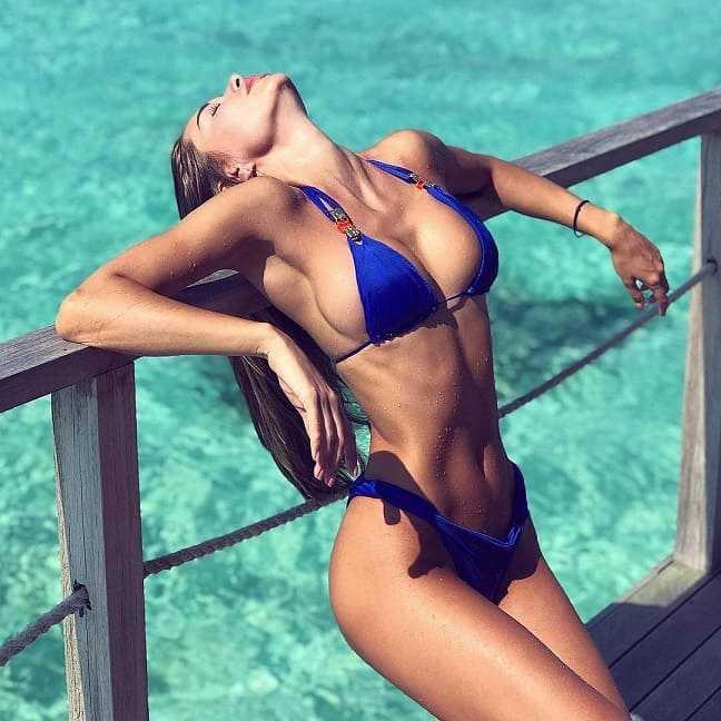 Beautiful girl in a bikini