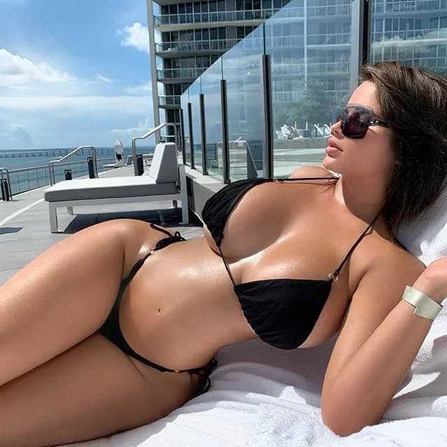Hot girl with big cool boobs and a bikini