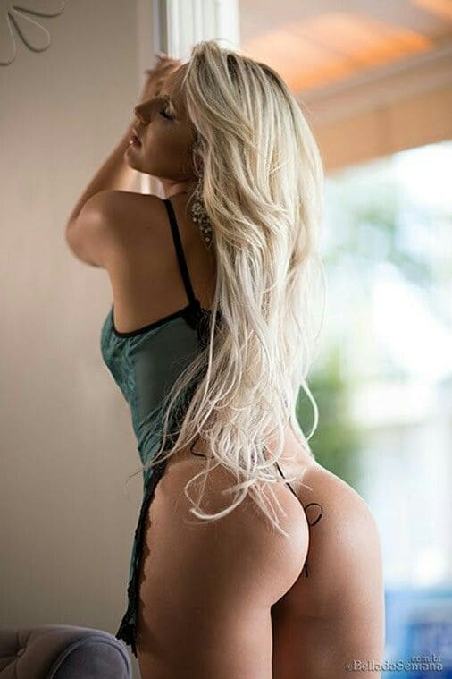 Sexy blonde girl with a hot ass