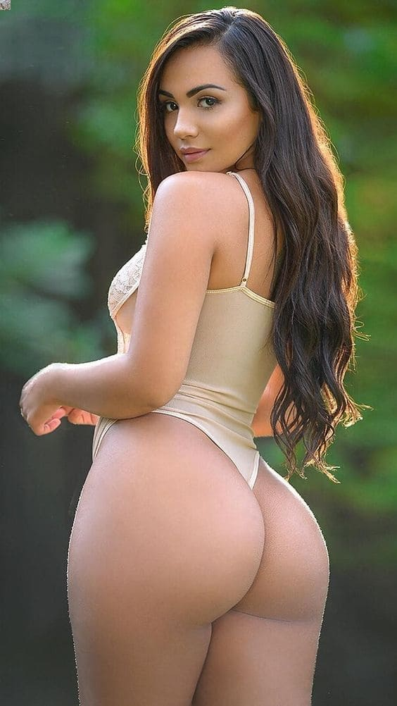 Beautiful girl with a big and mouth-watering ass