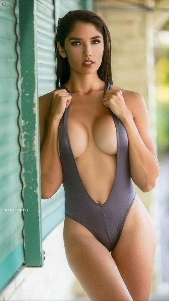 Beautiful woman in a bikini image