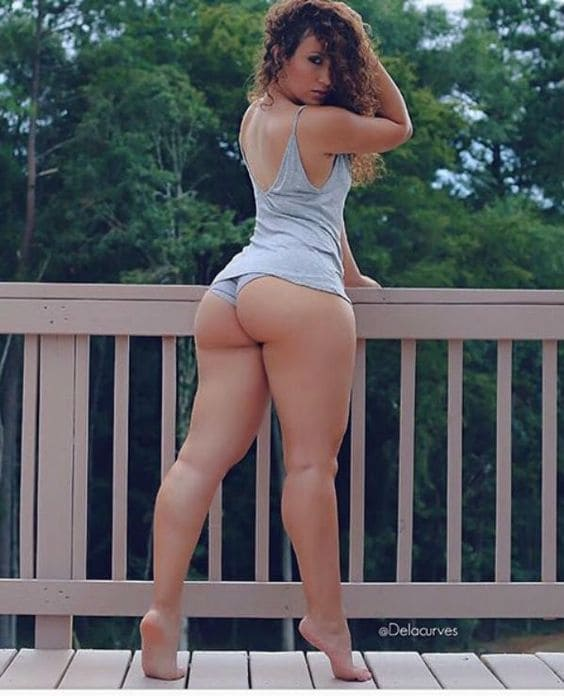 Girl with a sexy ass and slim legs