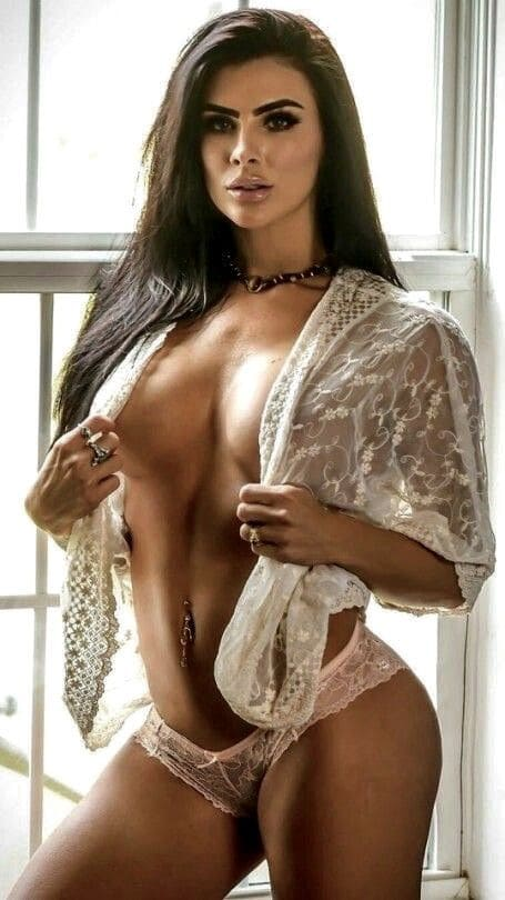 Beautiful woman in underwear image