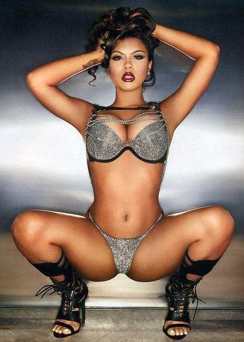 Hot black beauty in a bikini