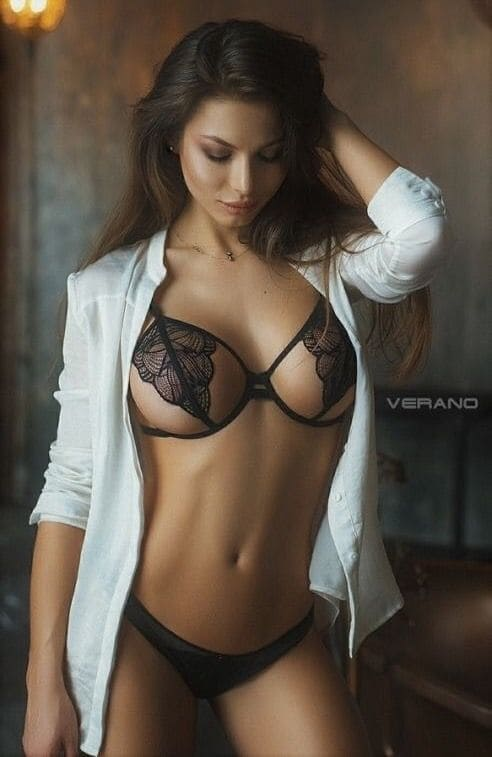 Beautiful girl with a graceful figure and big tits