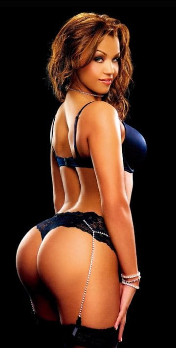 Very hot and sexy black woman in a bikini