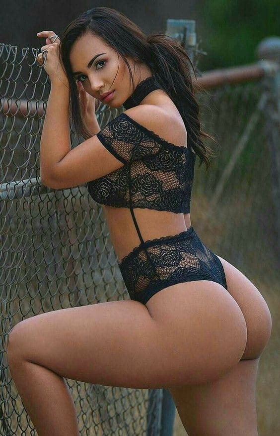 Beautiful woman with a sexy figure, big ass, big boobs