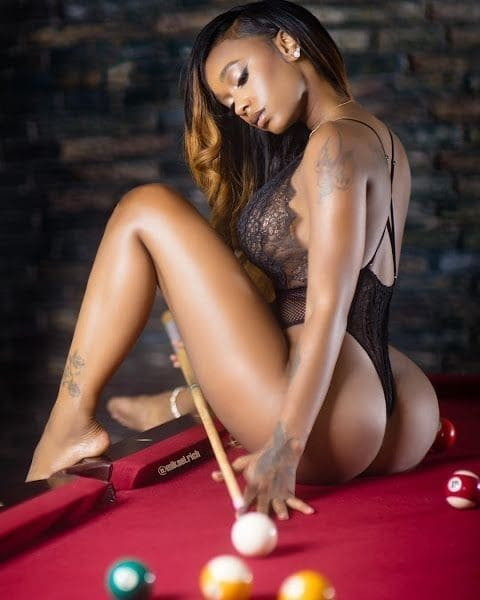 Sexy black beauty girl with a beautiful ass.