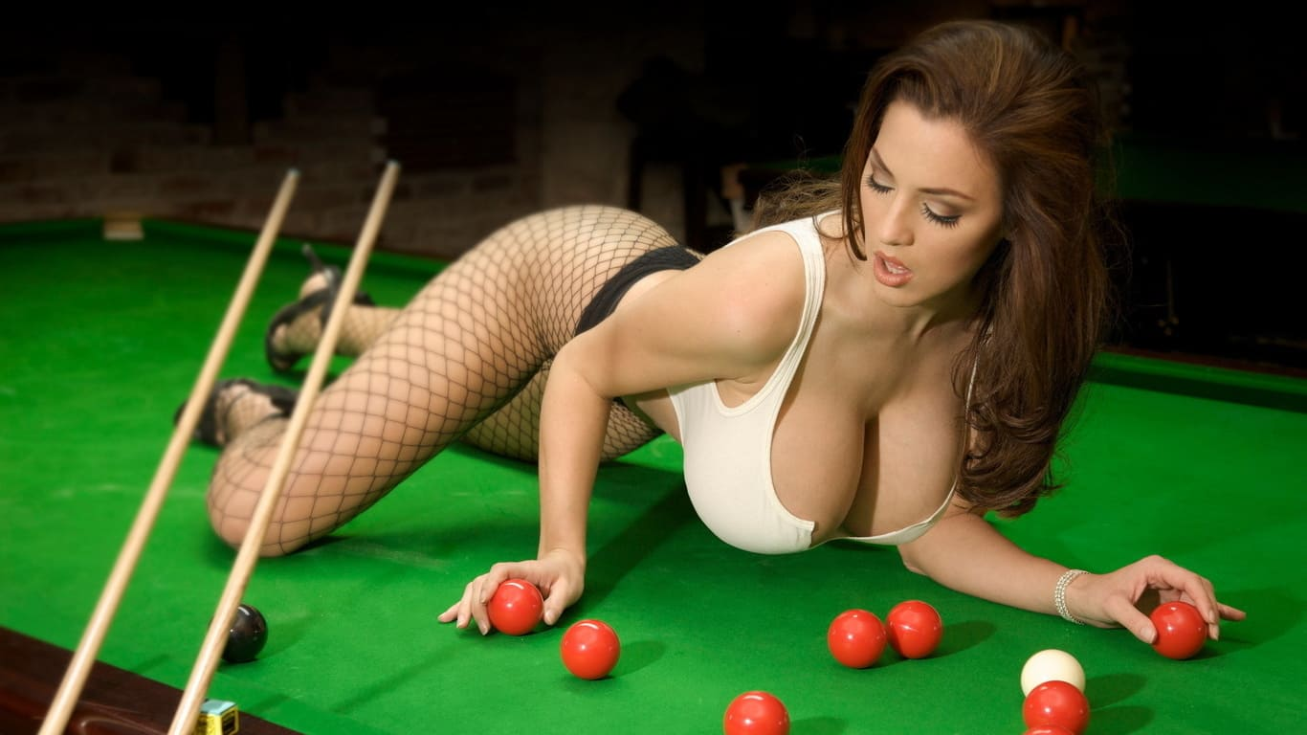 Beautiful girl with big tits in stockings